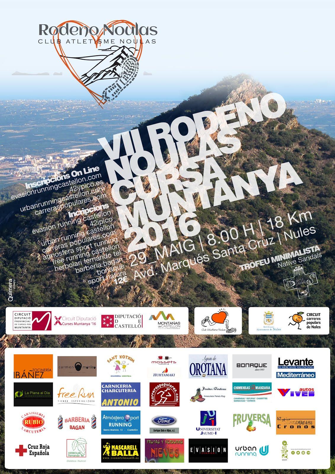 Cartell VII Rodeno Cursa 2016